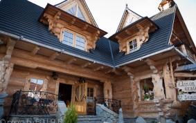 Restauracja karczma z bala. Dom weselny z bali.